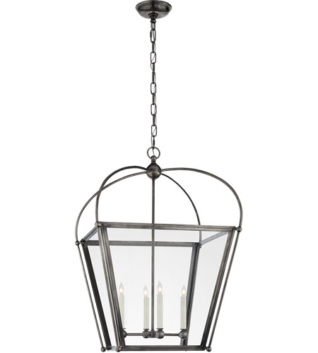 Visual Comfort E. F. Chapman Plantation 4 Light 21 inch Bronze Foyer Lantern Ceiling Light, E.F. Chapman, Medium, Clear Glass CHC3439BZ-CG - Open Box  photo
