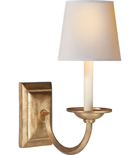 visual comfort sconces. Visual Comfort E.F. Chapman Flemish 1 Light Decorative Wall In Gilded Iron With Wax CHD1495GI-NP - Open Box Sconces A