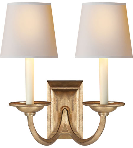 Chart House 2 Light 13 Inch Gilded Iron Wall Sconce