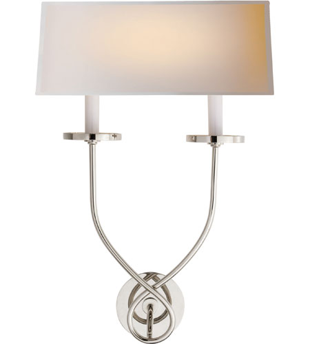 Visual Comfort E.F. Chapman Symmetric Twist 2 Light Decorative Wall Light in Polished Nickel CHD1612PN-NP - Open Box  photo