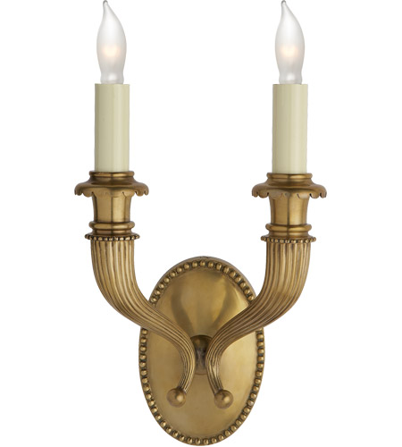 Lighting New York R-CHD2466AB Chart House 2 Light 9 inch Antique Brass Wall Sconce Wall Light photo
