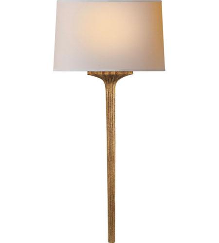 Visual Comfort E  F  Chapman Strie 1 Light 11 inch Gilded Iron with Wax  Decorative Wall Light CHD2705GI-NP - Open Box