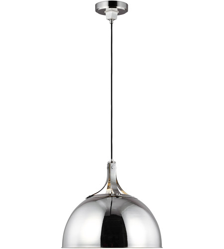 Generation Lighting TOB by Thomas O'Brien Logan 1 Light 20 inch Polished Nickel Pendant Ceiling Light TP1071PN - Open Box photo thumbnail