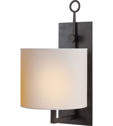 Visual Comfort Studio Aspen 1 Light Decorative Wall Light in Hand Painted Blackened Rust S2030BR-NP - Open Box  photo