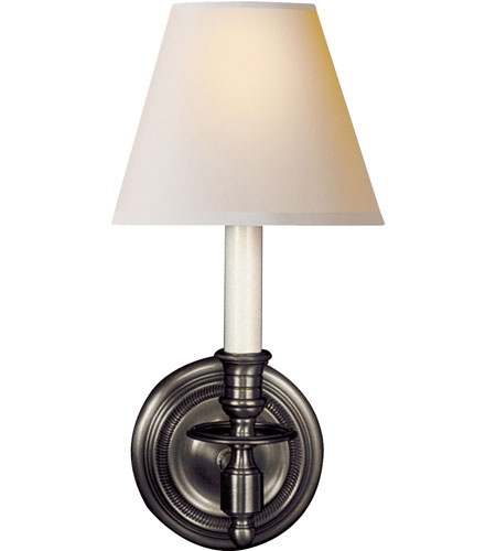 Visual Comfort Studio French 1 Light Decorative Wall Light in Bronze S2110BZ-NP - Open Box  photo
