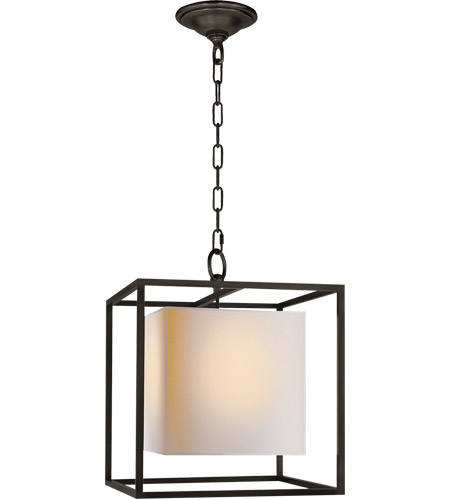 Visual Comfort Studio Eric Cohler Small Caged Lantern in Bronze with Natural Paper Shade SC5159BZ - Open Box photo