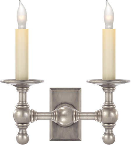 Visual Comfort E. F. Chapman Classic 2 Light 10 inch Antique Nickel Decorative Wall Light SL2814AN - Open Box photo