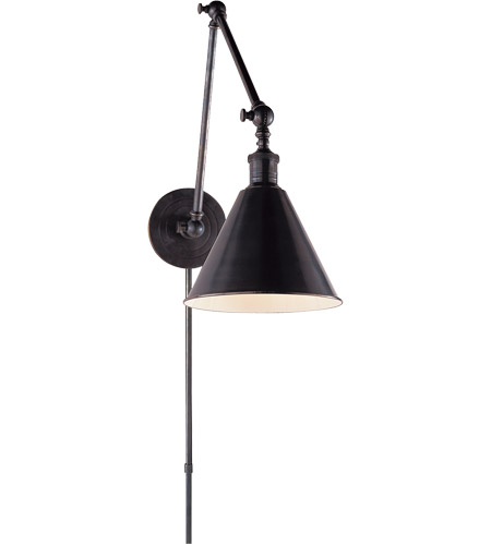Visual Comfort E.F. Chapman Boston 1 Light Task Wall Light in Bronze with Wax SL2923BZ - Open Box  photo