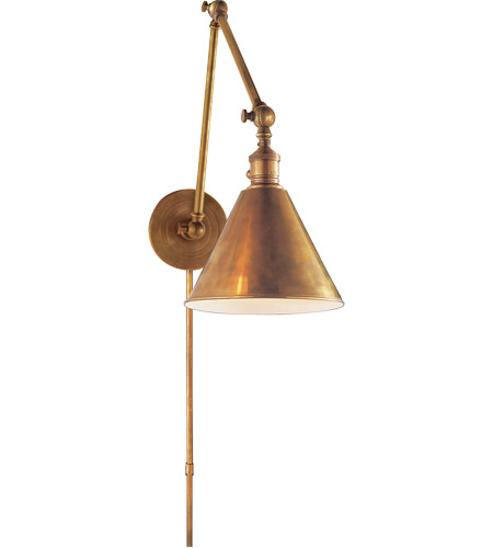 Visual Comfort Studio Sandy Chapman Double Boston Functional Library Light in Hand-Rubbed Antique Brass SL2923HAB - Open Box  photo
