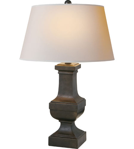 Visual Comfort E.F. Chapman Balustrade 1 Light Decorative Table Lamp in Aged Iron with Wax SL3338AI-NP - Open Box  photo