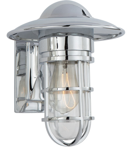 Visual Comfort E. F. Chapman Marine 1 Light 11 inch Chrome Outdoor Wall Lantern in Clear Glass SLO2001CH-CG - Open Box photo