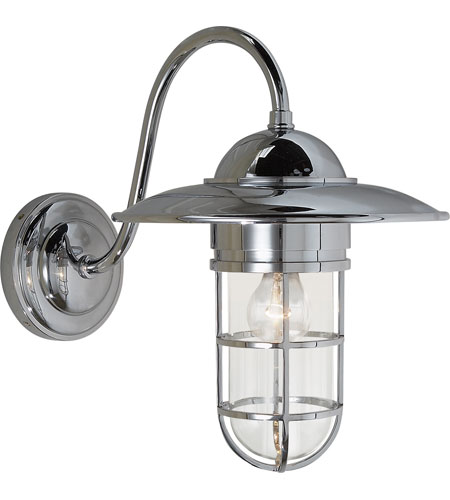 Visual Comfort Studio Sandy Chapman Medium Marine Wall Light in Chrome with Clear Glass SLO2003CH-CG - Open Box photo