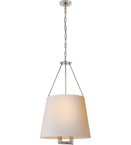 Visual Comfort J. Randall Powers Dalston 4 Light 21 inch Polished Nickel Hanging Shade Ceiling Light, J. Randall Powers, Medium, Natural Paper Shade SP5020PN-NP - Open Box photo