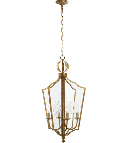 Visual Comfort John Rosselli Maher 4 Light 13 inch Gilded Iron with Wax Pendant Ceiling Light SR5002GI - Open Box  photo