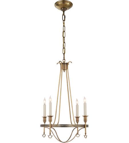 Visual Comfort John Rosi Savannah 4 Light 16 Inch Hand Rubbed Antique Br Chandelier Ceiling
