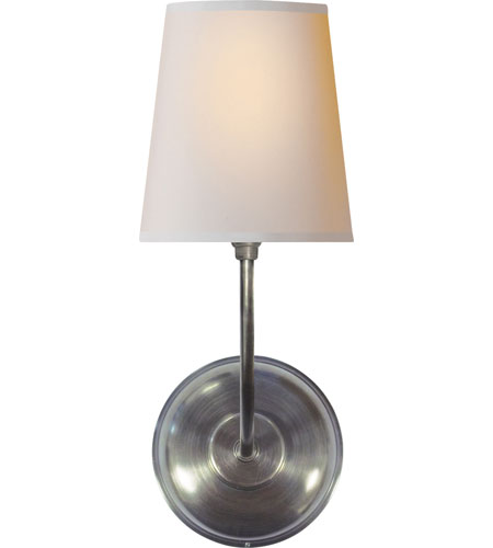 Visual Comfort Thomas Obrien 1 Light Decorative Wall In Antique Silver Tob2007as Np Open Box