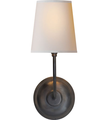 Visual Comfort Thomas OBrien Vendome Single Sconce in Bronze with Natural Paper Shade TOB2007BZ-NP - Open Box photo