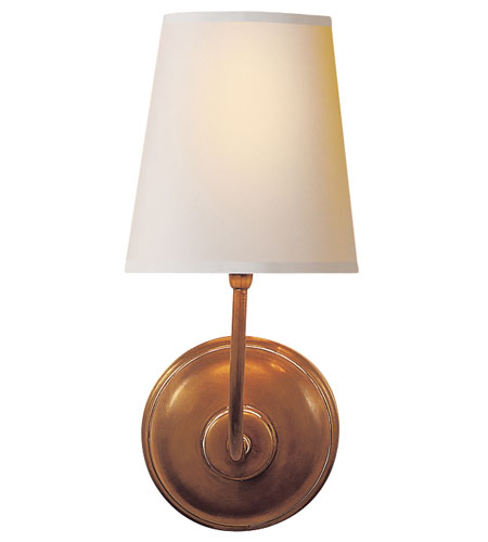 Visual Comfort Thomas OBrien Vendome 1 Light Decorative Wall Light in Hand-Rubbed Antique Brass TOB2007HAB-NP - Open Box  photo