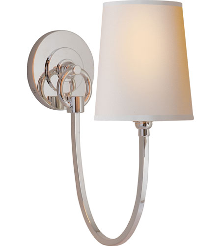 Visual Comfort Thomas OBrien Reed 1 Light Decorative Wall Light in Polished Nickel TOB2125PN-NP - Open Box  photo