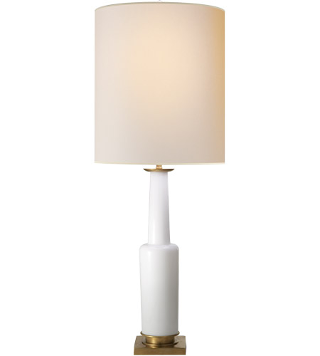 Visual Comfort Thomas OBrien Fiona 30 inch 100 watt White Glass Decorative Table Lamp Portable Light TOB3129WG-NP - Open Box photo