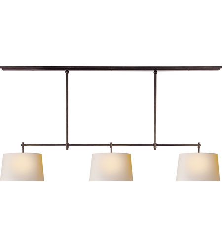 Visual Comfort Thomas OBrien Bryant 3 Light 60 inch Bronze Linear Pendant Ceiling Light TOB5005BZ-NP - Open Box  photo