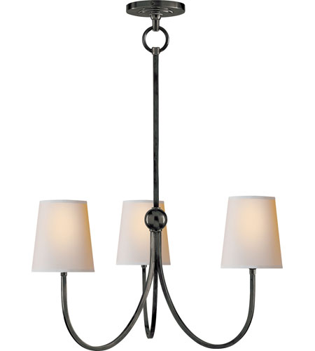 Visual Comfort Thomas OBrien Small Reed Chandelier in Bronze with Natural Paper Shades TOB5009BZ-NP - Open Box photo