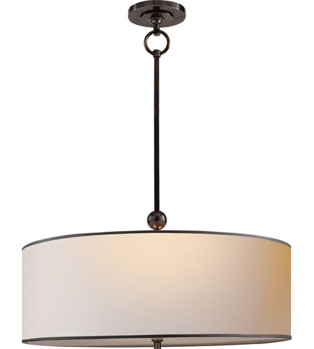 Visual Comfort Thomas OBrien Reed 2 Light 22 inch Bronze Hanging Shade Ceiling Light in Natural Paper with Black Tape TOB5011BZ-NP/BT - Open Box  photo