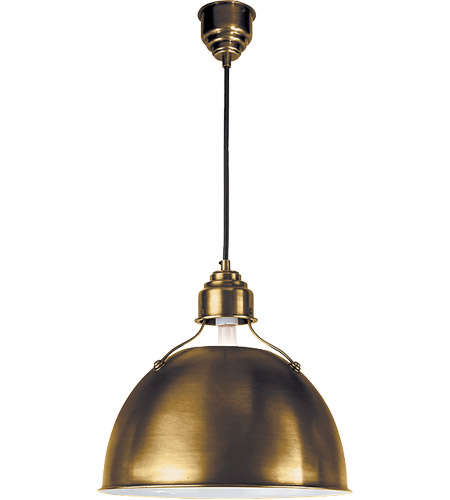 Visual Comfort Thomas OBrien Eugene 1 Light 16 inch Hand-Rubbed Antique Brass Pendant Ceiling Light TOB5013HAB - Open Box  photo