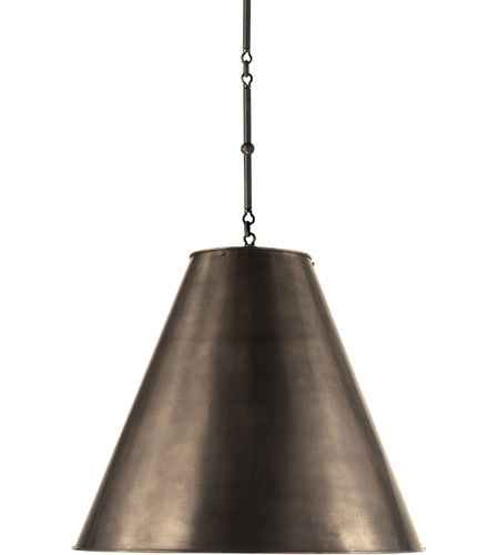 Visual Comfort Thomas OBrien Goodman Hanging Lamp in Bronze with Bronze Shade TOB5014BZ-BZ - Open Box  photo