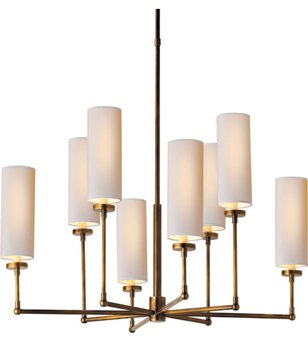 Delightful Visual Comfort Thomas OBrien Ziyi 8 Light 34 Inch Hand Rubbed Antique Brass  Chandelier Ceiling Light TOB5016HAB NP   Open Box Nice Design