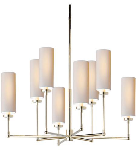 Visual Comfort Thomas Obrien Ziyi 8 Light 34 Inch Polished Nickel Chandelier Ceiling Tob5016pn