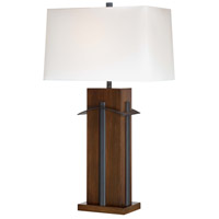 Minka-Lavery Signature 32 inch 100 watt Walnut/Black Table Lamp Portable Light 10033-0 - Open Box
