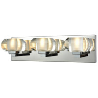 Light Visions R-11692-3 Modern 3 Light 17 inch Polished Chrome Bath Bar Wall Light Clear Crystal 11692-3 - Open Box