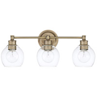 Capital Lighting R-121131AD-426 Mid Century 3 Light 24 inch Aged Brass Vanity Wall Light 121131AD-426 - Open Box