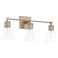 Capital Lighting Signature 3 Light 23 inch Aged Brass Vanity Wall Light 121831AD-432 - Open Box