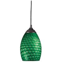 Z-Lite R-131-GREEN Jazz 1 Light 5 inch Sand Black Mini Pendant Ceiling Light in Green 131-GREEN - Open Box