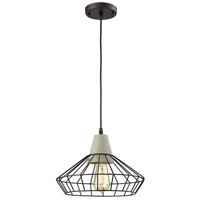Light Visions Industrial 1 Light 14 inch Black Pendant Ceiling Light 15216-1 - Open Box