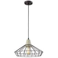 Light Visions R-15217-1 Industrial 1 Light 17 inch Black Pendant Ceiling Light 15217-1 - Open Box