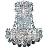 Elegant Lighting R-V1901W12SC/RC Century 3 Light 12 inch Silver and Clear Mirror Wall Sconce Wall Light in Royal Cut V1901W12SC/RC - Open Box