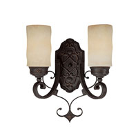 Capital Lighting River Crest 2 Light 13 inch Rustic Iron Sconce Wall Light 1907RI-125 - Open Box