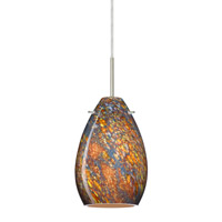 Besa Lighting Pera 1 Light Satin Nickel Pendant Ceiling Light in Ceylon Glass 1BT-1713CE-SN - Open Box