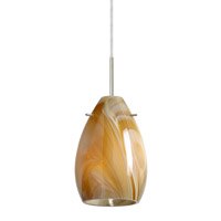 Besa Lighting Pera 1 Light Satin Nickel Pendant Ceiling Light in Honey Glass 1BT-1713HN-SN - Open Box