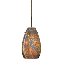 Besa Lighting Pera 1 Light Bronze Pendant Ceiling Light in Ceylon Glass Incandescent 1JT-4126CE-BR - Open Box