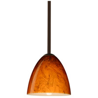 Besa Lighting R-1TT-4470HB-BR Vila 1 Light Bronze Stem Pendant Ceiling Light 1TT-4470HB-BR - Open Box