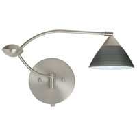 Besa Lighting Domi 1WU 20 inch 50 watt Satin Nickel Swing Arm Sconce Wall Light 1WU-1743TN-SN - Open Box