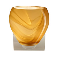Besa Lighting R-1WZ-4122HN-CR Bolla 1 Light 6 inch Chrome Mini Sconce Wall Light in Incandescent Honey Glass 1WZ-4122HN-CR - Open Box