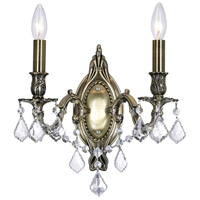 CWI Lighting R-2038W9AB-2 Brass 2 Light 6 inch Antique Brass Wall Sconce Wall Light 2038W9AB-2 - Open Box