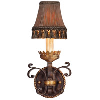 Fine Art Lamps R-220750ST Castile 1 Light 8 inch Antique Iron and Warm Gold Leaf Wall Sconce Wall Light 220750ST - Open Box