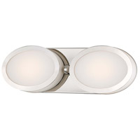 Minka-Lavery Pearl LED 15 inch Polished Nickel Bath Wall Light 2902-613-L - Open Box