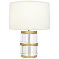 Robert Abbey R-298 Wyatt 19 inch 100 watt Clear Crystal and Modern Brass Accent Lamp Portable Light in Fondine 298 - Open Box